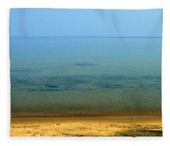 Clearness Of Lake Superior Fleece Blanket