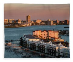 Clearwater Evening Fleece Blanket