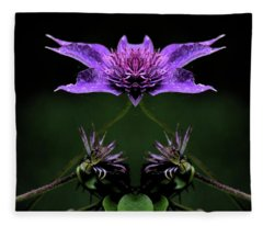 Clematis 1 Fleece Blanket