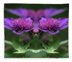 Clematis 2 Fleece Blanket