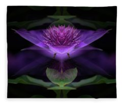 Clematis 3 Fleece Blanket