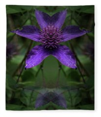 Clematis 4 Fleece Blanket