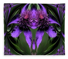 Clematis 5 Fleece Blanket