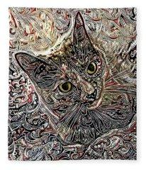 Cleo The Tortoiseshell Cat Fleece Blanket