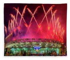 Cleveland Indians Fireworks Fleece Blanket