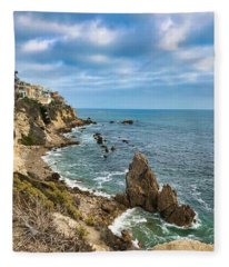 Cliffs Of Corona Del  Mar Fleece Blanket