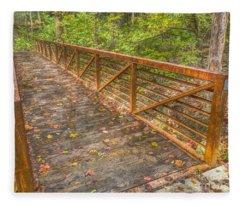 Close Up Of Bridge At Pine Quarry Park Fleece Blanket