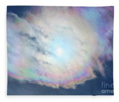 Cloud Iridescence Fleece Blanket