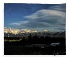 Cloud Lens Over The Presidential Range Fleece Blanket