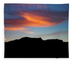 Cloud Over Mt. Boney Fleece Blanket