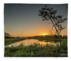 Cloudless Hungryland Sunrise Fleece Blanket