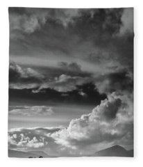 Clouds Over Loch Laich Fleece Blanket