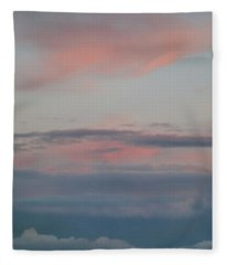 Clouds Over The Ocean Fleece Blanket