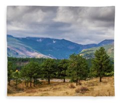 Clouds Over The Rockies Fleece Blanket