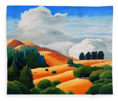Clouds Over Windy Hill Fleece Blanket