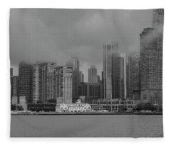 Cloudy Skyline Fleece Blanket