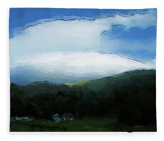Cloudy View Painting Fleece Blanket
