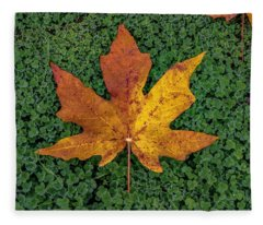 Clover Leaf Autumn Fleece Blanket