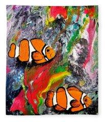 Clown Fish  Fleece Blanket