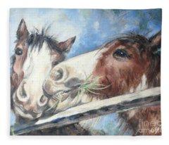 Clydesdale Pair Fleece Blanket
