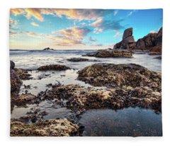Coast At Sozopol, Bulgaria Fleece Blanket