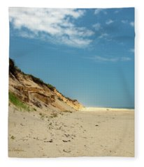 Coast Guard Beach 4th Of July Fleece Blanket