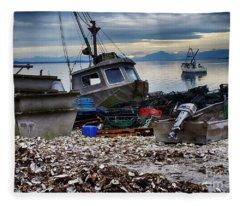 Coastal Fishing Vancouver Island Fleece Blanket