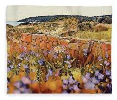 Coastal Pathway Throuigh The Dunes Fleece Blanket