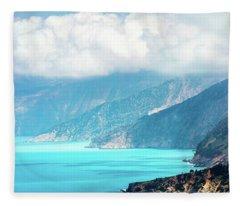 Coastline Of The Island Fleece Blanket
