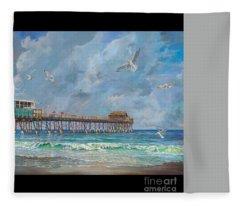 Cocoa Beach Pier Fleece Blanket