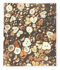 Coffee Lovers Layout Fleece Blanket