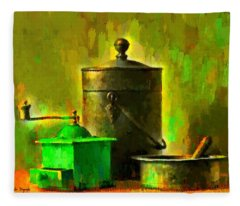 Coffee Mill - Da Fleece Blanket