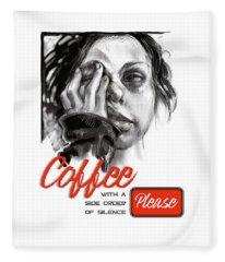 Coffee With A Side Fleece Blanket
