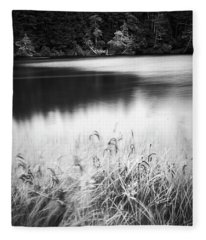 Fleece Blanket featuring the photograph Coffenbury Lake by Whitney Goodey