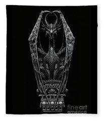 Coffin Dragon Fleece Blanket