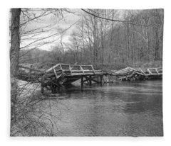 Collapsed Bridge At Waterloo Village Fleece Blanket