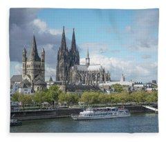 Cologne, Germany Fleece Blanket