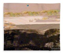 Colonies On The Moon Fleece Blanket