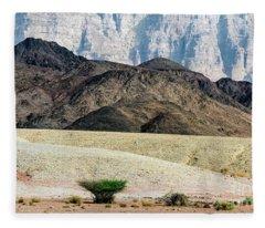 Color Layers In The Desert Fleece Blanket