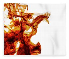Color Liquid Motion In Water. Abstract Paint Splash Background.  Fleece Blanket