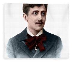 Color Portrait Of Proust Fleece Blanket