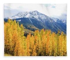Colorado Aspens And Mountains 2 Fleece Blanket