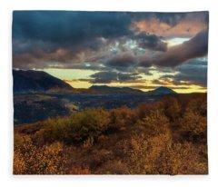 Colorado Cloudscape Fleece Blanket