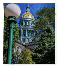 Colorado State Capital Fleece Blanket