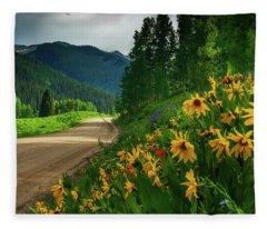 Colorado Wildflowers Fleece Blanket
