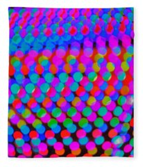 Colored Lights Fleece Blanket