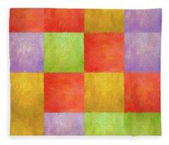 Colored Tiles Fleece Blanket
