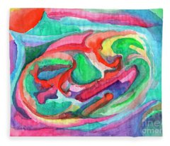Colorful Abstraction Fleece Blanket