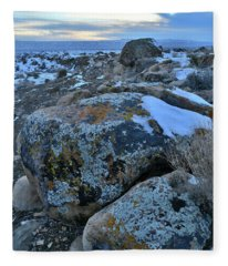 Colorful Boulders At Sunset In The Book Cliffs Fleece Blanket
