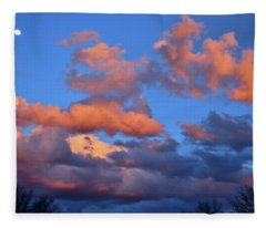 Colorful Clouds At Sunset In Grand Junction Colorado Fleece Blanket